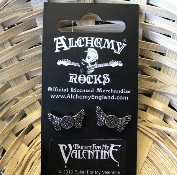 ALCHEMY GOTHIC Bullet for my Valentine Stud Earrings